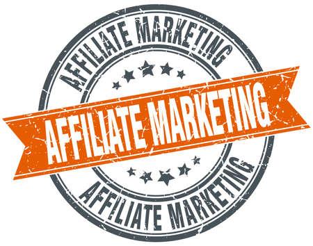 affiliate marketing: affiliate marketing round orange grungy vintage isolated stamp Illustration