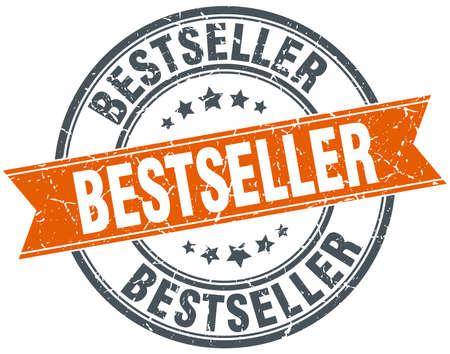 bestseller: bestseller round orange grungy vintage isolated stamp Illustration