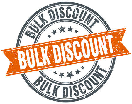 bulk: bulk discount round orange grungy vintage isolated stamp