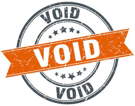 void: void round orange grungy vintage isolated stamp