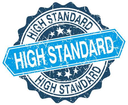 standard: high standard blue round grunge stamp on white Illustration