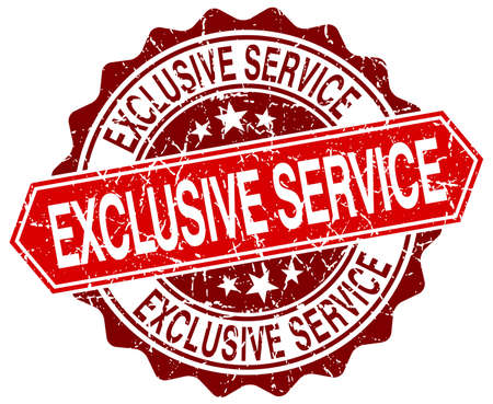 exclusive: exclusive service red round grunge stamp on white Illustration
