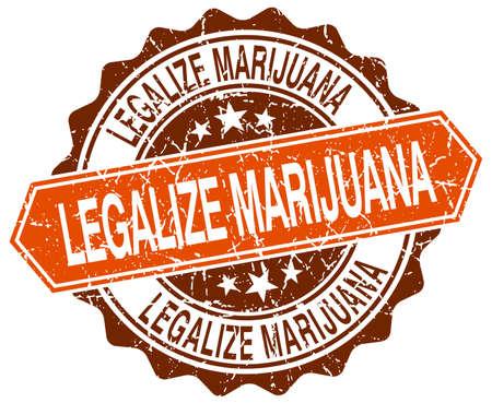 legalize: legalize marijuana orange round grunge stamp on white