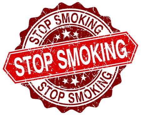 stop smoking: stop smoking red round grunge stamp on white