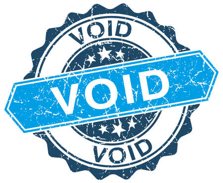 void: void blue round grunge stamp on white