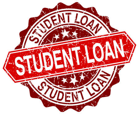 student loan: student loan red round grunge stamp on white Illustration