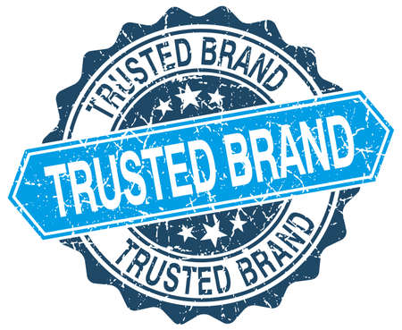 trusted: trusted brand blue round grunge stamp on white