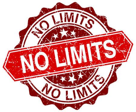 no limits: no limits red round grunge stamp on white