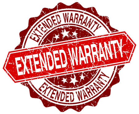 estendido: extended warranty red round grunge stamp on white