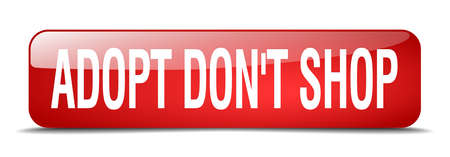 dont: adopt dont shop red square 3d realistic isolated web button Illustration