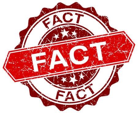 fact: fact red round grunge stamp on white Illustration