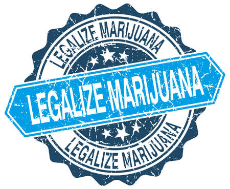 legalize: legalize marijuana blue round grunge stamp on white