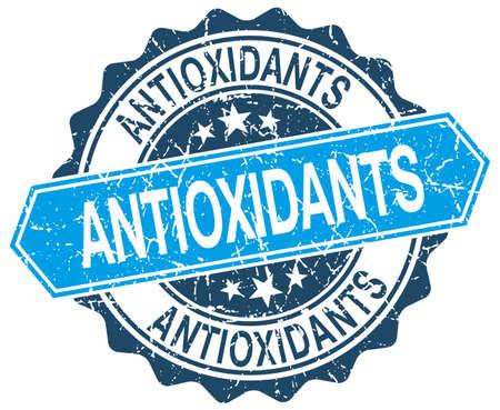 antioxidants: antioxidants blue round grunge stamp on white