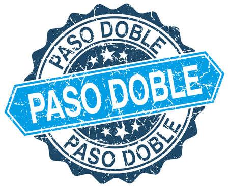 paso doble: paso doble blue round grunge stamp on white