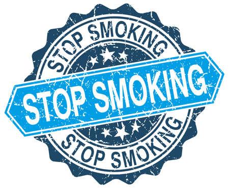 stop smoking: stop smoking blue round grunge stamp on white