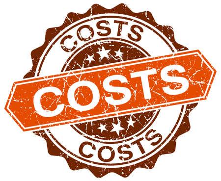 costs: costs orange round grunge stamp on white Illustration