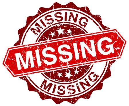 missing: missing red round grunge stamp on white