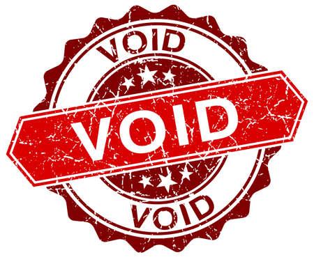 void: void red round grunge stamp on white