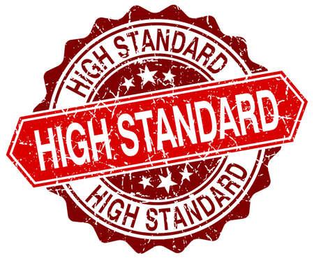 standard: high standard red round grunge stamp on white