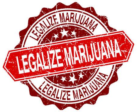 legalize: legalize marijuana red round grunge stamp on white Illustration
