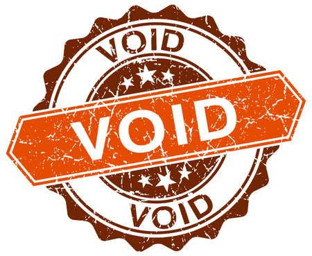 void: void orange round grunge stamp on white Illustration