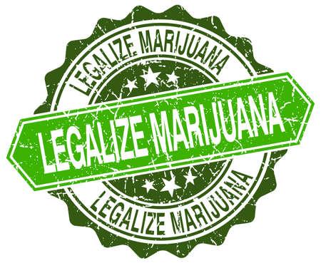 legalize: legalize marijuana green round retro style grunge seal