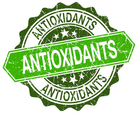 antioxidants: antioxidants green round retro style grunge seal