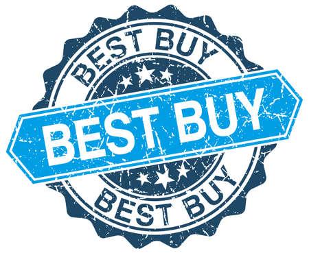 best buy: best buy blue round grunge stamp on white Illustration