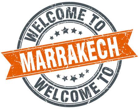 marrakech: welcome to Marrakech orange round ribbon stamp