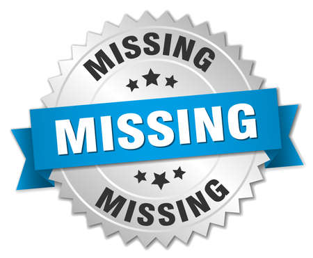 missing: missing 3d silver badge with blue ribbon