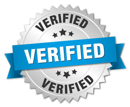 verified: verified 3d silver badge with blue ribbon