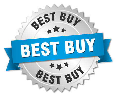 best buy: best buy 3d silver badge with blue ribbon