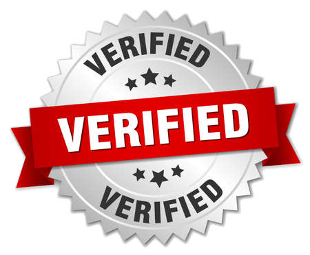 verified: verified 3d silver badge with red ribbon