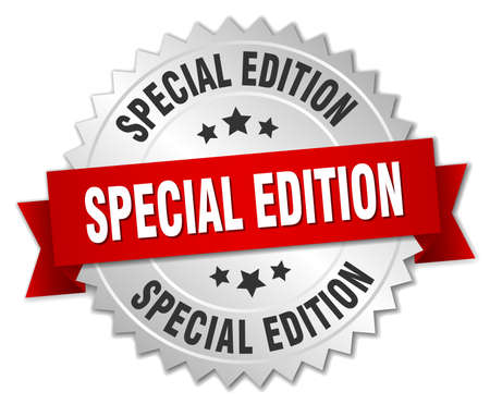 special edition: special edition 3d silver badge with red ribbon