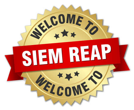 reap: Siem Reap 3d gold badge with red ribbon
