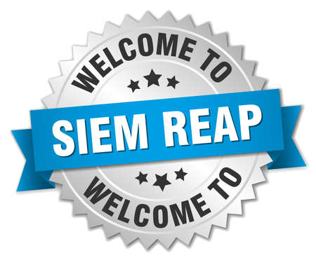 reap: Siem Reap 3d silver badge with blue ribbon