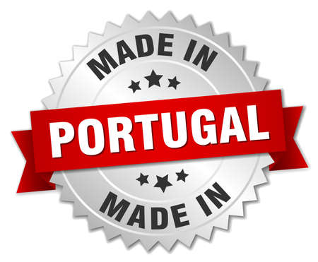 made in portugal: made in Portugal silver badge with red ribbon