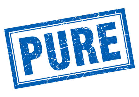 pure: pure blue square grunge stamp on white Illustration