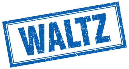 waltz: waltz blue square grunge stamp on white Illustration