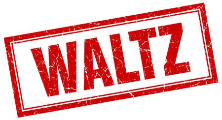 waltz: waltz red square grunge stamp on white Illustration
