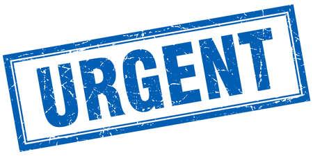 urgent: urgent blue square grunge stamp on white Illustration