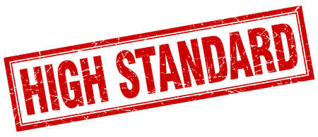 standard: high standard red square grunge stamp on white Illustration