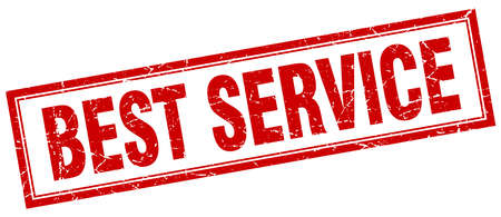 best service: best service red square grunge stamp on white Illustration