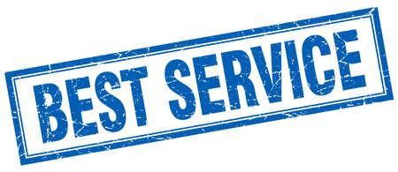 best service: best service blue square grunge stamp on white Illustration