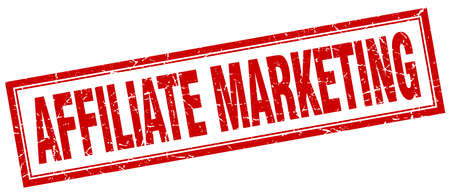 affiliate marketing: affiliate marketing red square grunge stamp on white