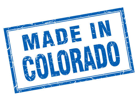 made in: Colorado blue square grunge made in stamp Illustration