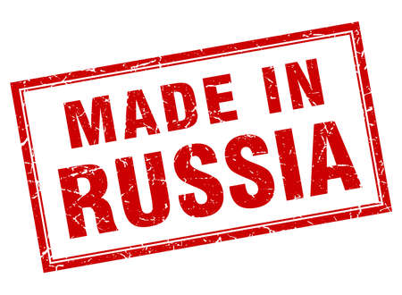 made russia: Russia red square grunge made in stamp