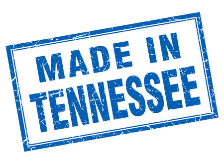 tennessee: Tennessee blue square grunge made in stamp