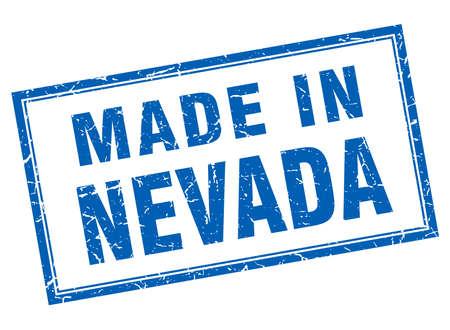 nevada: Nevada blue square grunge made in stamp
