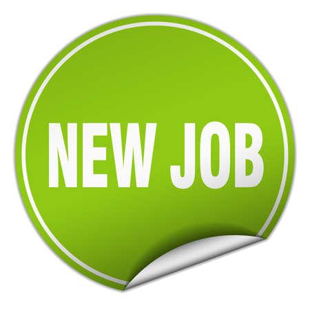 new job: new job round green sticker isolated on white Illustration